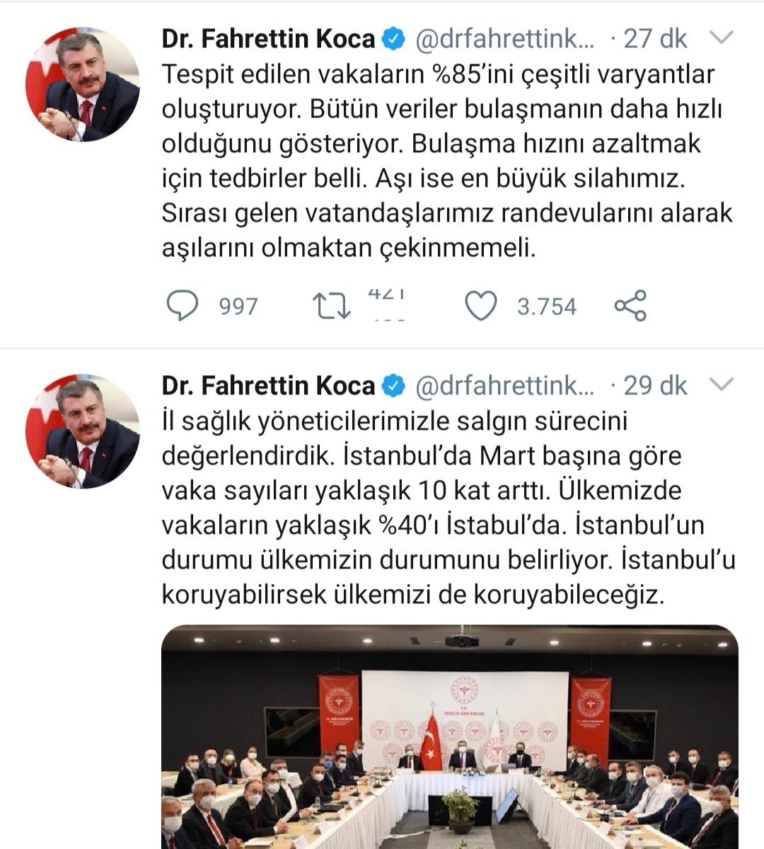 'İstanbul'da Mart başına göre vaka sayıları yaklaşık 10 kat arttı'