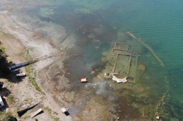 İznik gölünde sular 200 metre çekildi, Dünyanın en önemli keşfi batık bazilika gün yüzüne çıktı