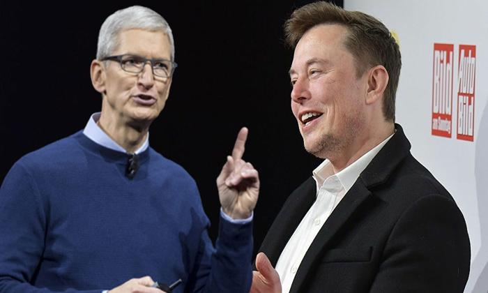"""Tim Cook """"İstanbul Apple mağazamızla Bağdat Caddesi'nde tanışın.Elon Musk:""""Gelin, Apple bezini görün"""""""